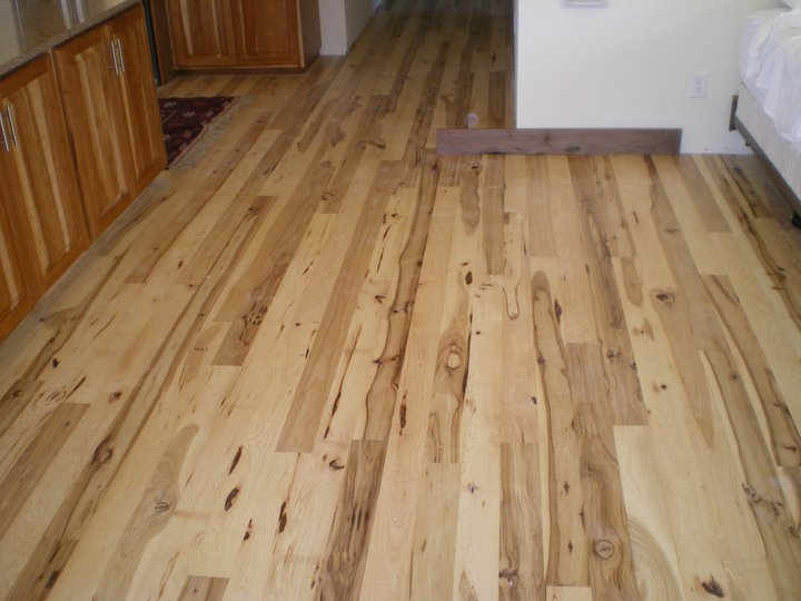 Picture of character Hickory flooring that we made. I love all the character in this wood.